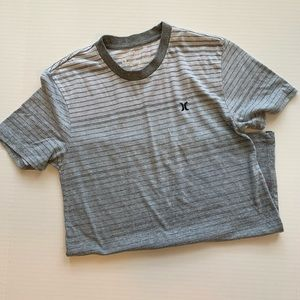 Men's Hurley Soft Striped Grey Tee - Size S